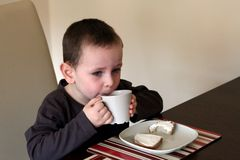 Eating breakfast Royalty Free Stock Photography