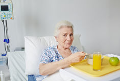 Eating breakfast Stock Photography