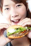 Eating Burger Royalty Free Stock Photography