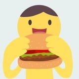 Eating burger Stock Image