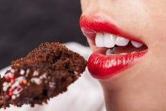 Eating Cake Close-up Stock Photo