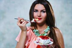 Eating cake Stock Photos