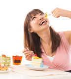Eating cakes Royalty Free Stock Image
