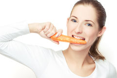 Eating the carrot Royalty Free Stock Images