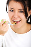 Eating cereal Royalty Free Stock Photo
