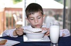 Eating cereal royalty free stock images