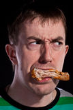 Eating chicken Royalty Free Stock Images
