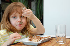 Eating child Royalty Free Stock Photography