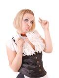 Eating chocolate Stock Image