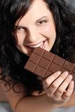 Eating chocolate Royalty Free Stock Image