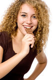 Eating Chocolate Royalty Free Stock Photos