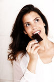 Eating Chocolate Royalty Free Stock Image