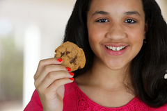 Eating Cookie Royalty Free Stock Images