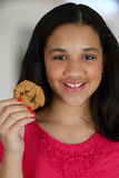 Eating Cookie Stock Images