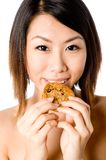 Eating Cookie Royalty Free Stock Photos