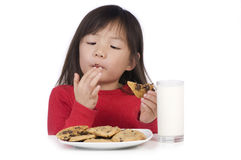 Eating Cookies royalty free stock image