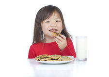 Eating Cookies Stock Photography