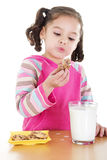 Eating cookies Stock Photos