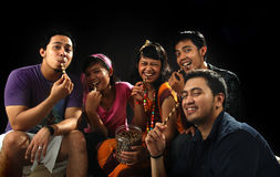 Eating cookies together Stock Photography