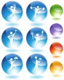 Eating  Crystal Icon Set Royalty Free Stock Image
