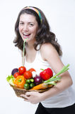 Eating at diet Royalty Free Stock Photo