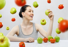 Eating diet food Royalty Free Stock Photography