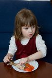 Eating dinner Royalty Free Stock Photography