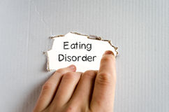 Eating disorder text concept Stock Image