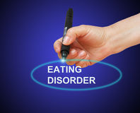 Eating disorder. Writing word Eating disorder with marker on gradient background made in 2d software Royalty Free Stock Photos