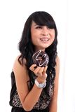 Eating donut Royalty Free Stock Photography