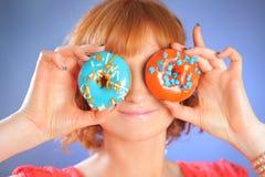 Eating donut Royalty Free Stock Image