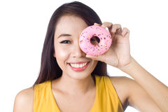 Eating Donut Royalty Free Stock Images