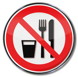 Eating or drinking is not allowed Royalty Free Stock Image