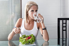 Eating and drinking smart royalty free stock photos
