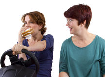 Eating And Driving Stock Photos