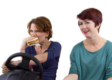 Eating And Driving Stock Photography