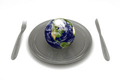 Eating Earth Royalty Free Stock Photography