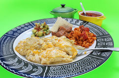Eating Enchilada Dinner Royalty Free Stock Photography