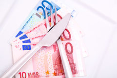 Eating Euros Stock Images