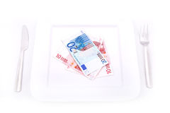 Eating Euros Stock Photography