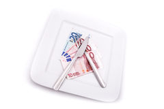 Eating Euros Royalty Free Stock Images