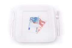 Eating Euros Royalty Free Stock Image
