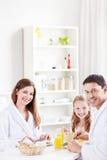 Eating family Stock Image