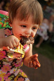 Eating first ice cream Royalty Free Stock Photos
