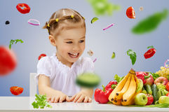 Eating fresh fruit Stock Image