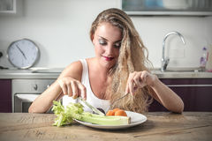 Eating fruit and vegetables Stock Photo