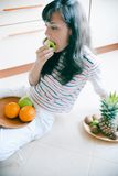 Eating Fruits Royalty Free Stock Images