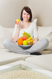 Eating fruits Royalty Free Stock Photography
