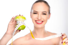 Eating fruits is the best diet Stock Images
