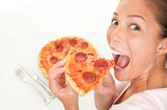 Eating fun fast food Royalty Free Stock Image
